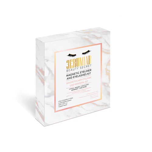 Magnetic Eyelashes Kit box packaging