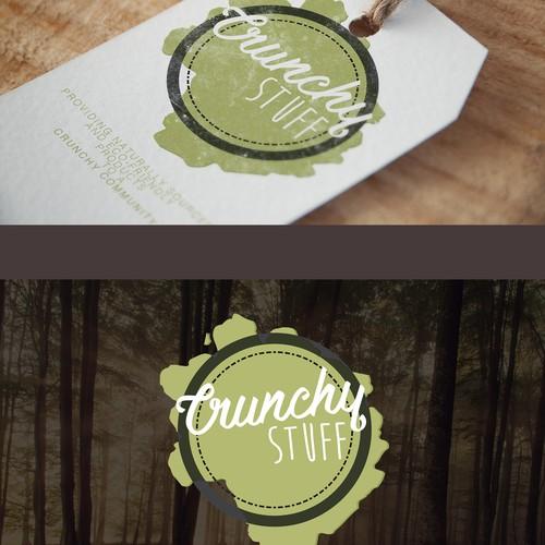 label design concept for crunchy stuff