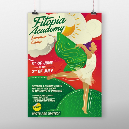 Dance school summer camp poster