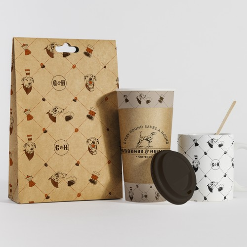 Pattern for Coffee Loving Dog Parents
