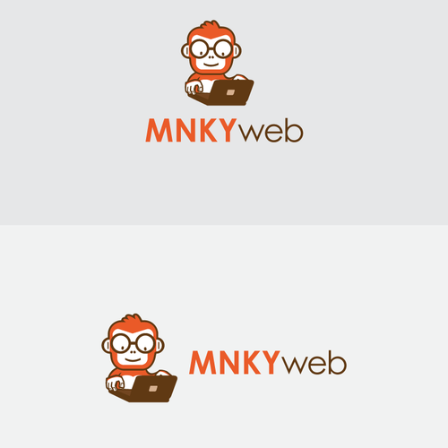 Create a playful and serious logo for MNKY web
