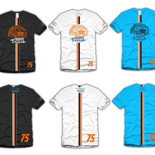 Create Merchandising Apparel Designs for Professional Racing Driver Paul Holton