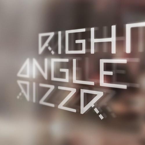 Square pizza shop logo
