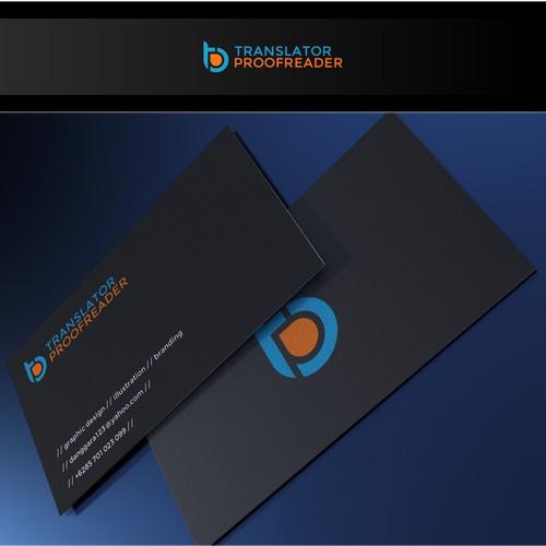 Design a professional image for a freelance translator.