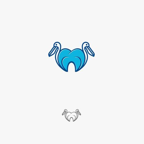 Pelican bird & tooth icon