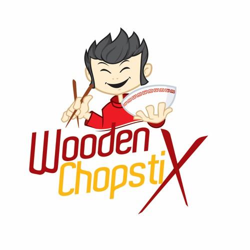 Asian street food ,Wooden Chopstix, create a logo for a food truck
