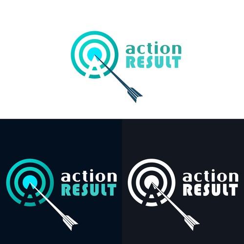 Concept logo designed for Action Result