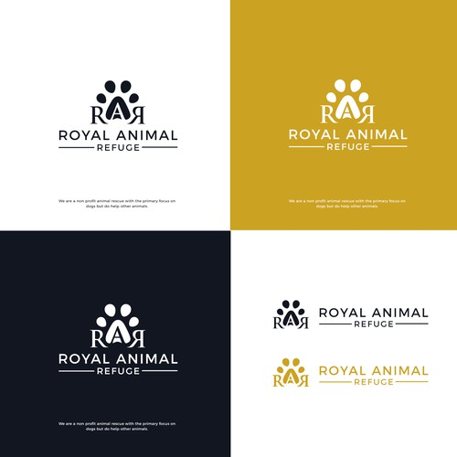 Elegant with playful touch logo for Royal Animal Refuge