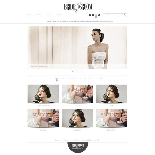 Bride and Groom needs a new website design