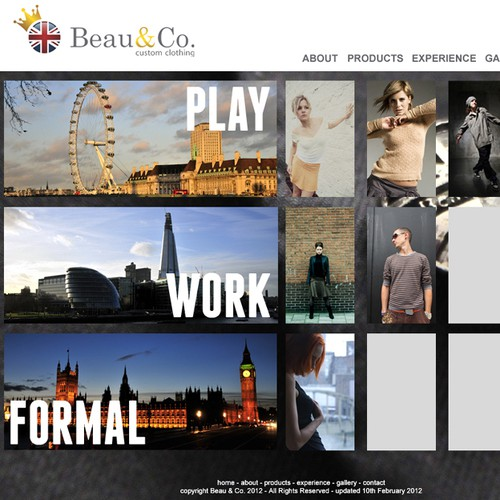 We need your help! Modern, clean web design needed for contemporary custom-clothing brand