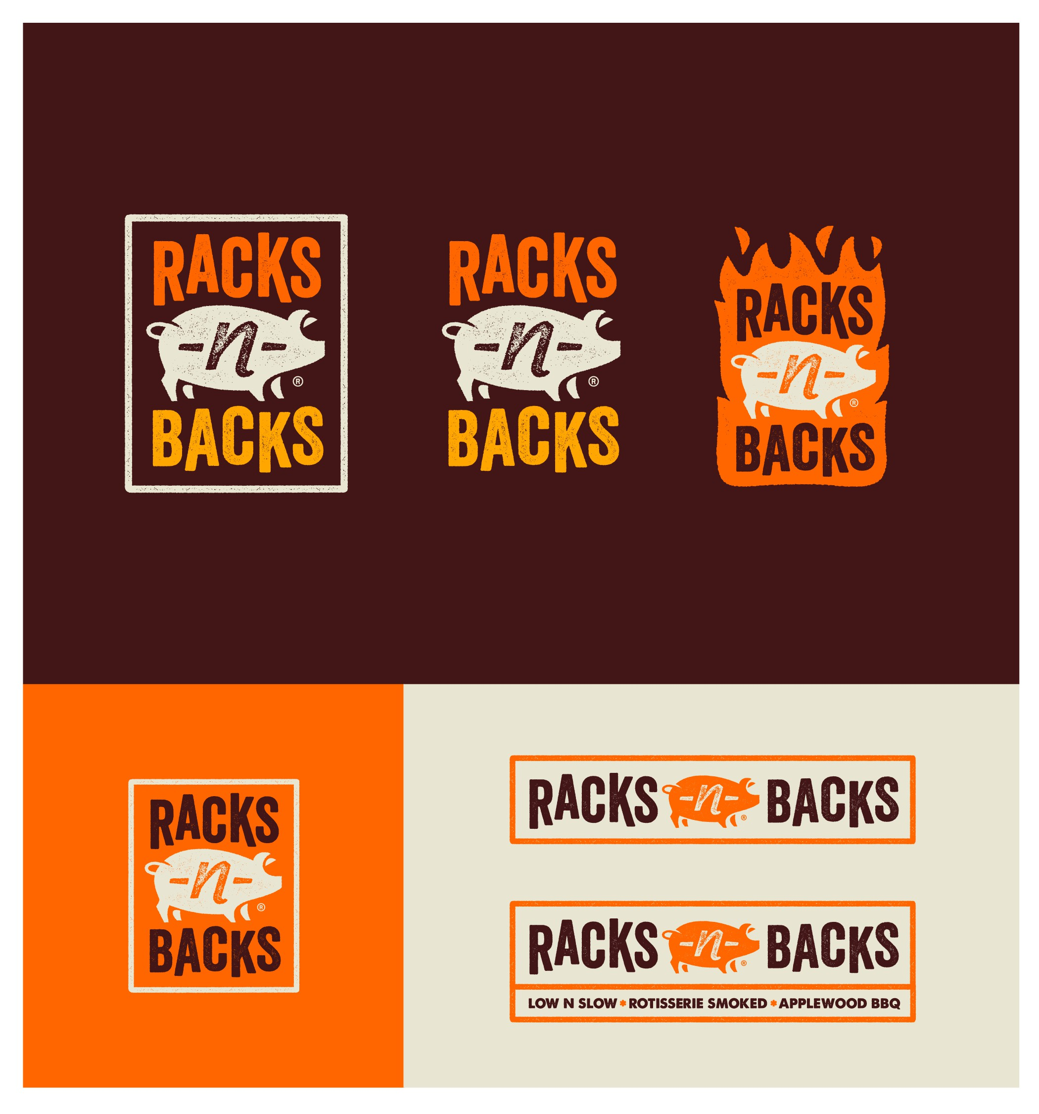 """Rustic, bold and totally creative logo designs needed for BBQ Truck """"Racks N Backs"""""""