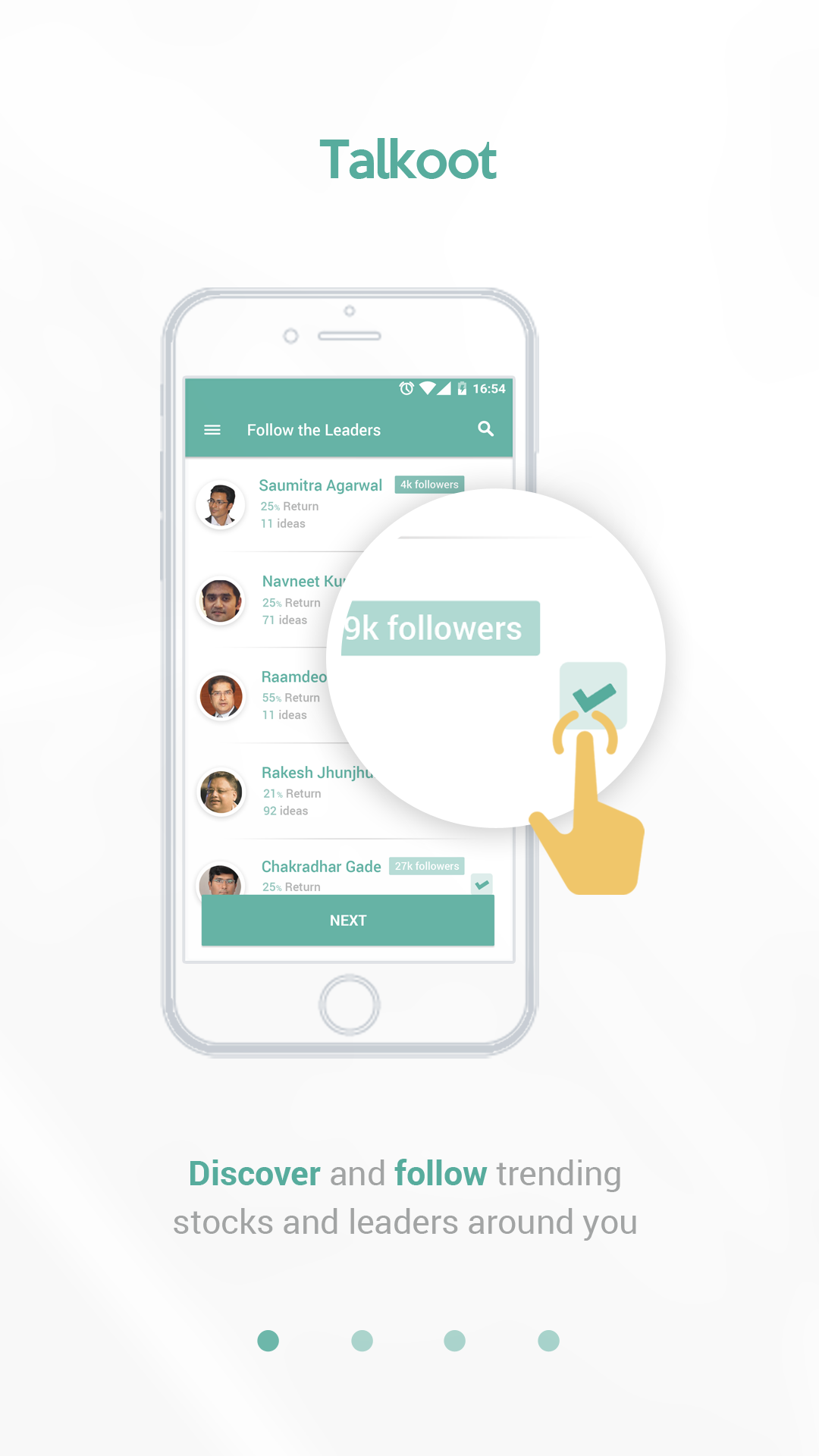 Design Android app for social network for stock traders and investors