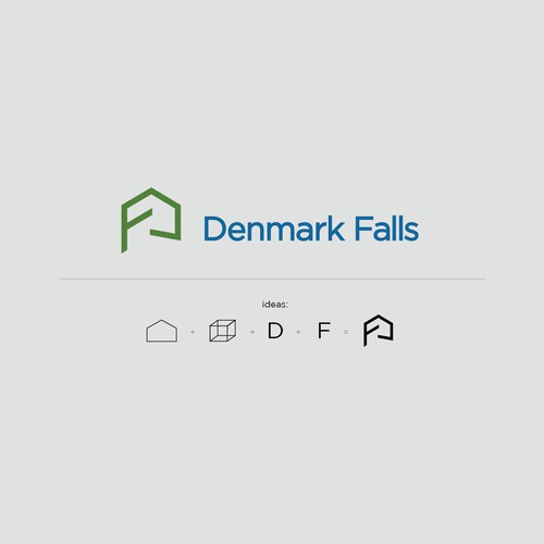 logo design for Denmark Falls