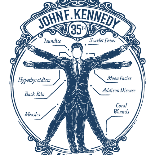"""Sick Presidents"" t-shirt design"