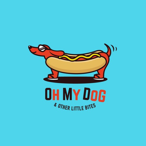 Cute, fun logo for a hot dog joint near the beach