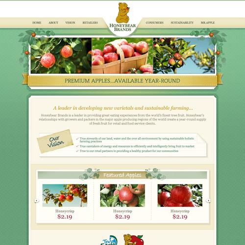 Create the next website design for Honeybear Brands; www.honeybearbrands.com