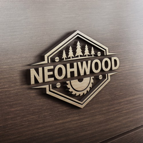 Classic Logo for Neohwood custom furniture urban sawmill business