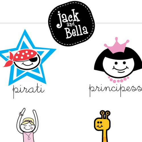 T-shirt Design for JACK AND BELLA