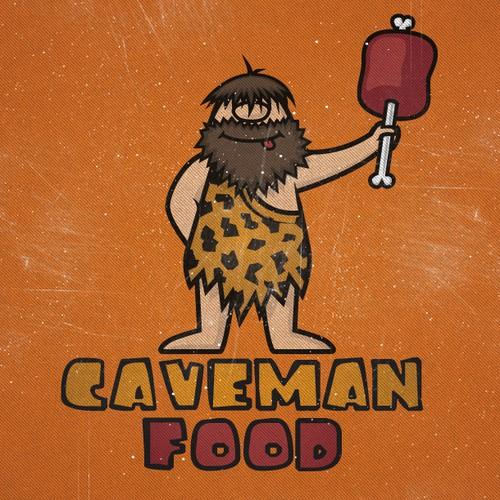 "Logo for ""Caveman Food"" - natural foods company"
