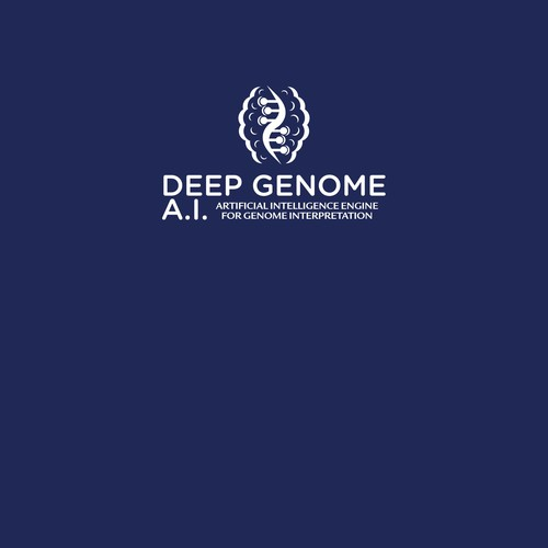 This is a logo for an artificial inteligence system that analyzes human DNA