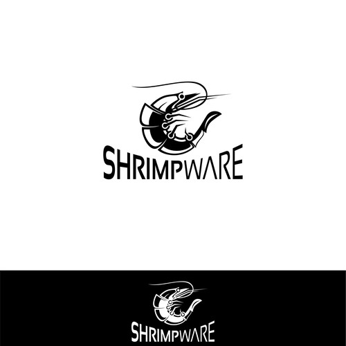 strong logo concept for Shrimpware
