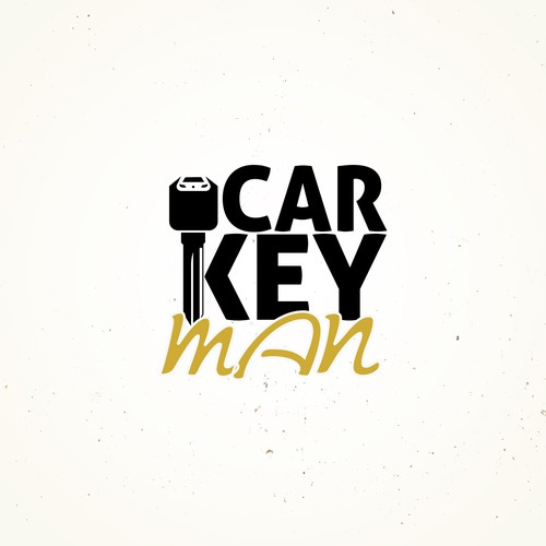 Car Key Man Logo Design