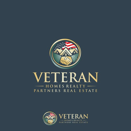 logo concept for VETERAN HOMES REALTY