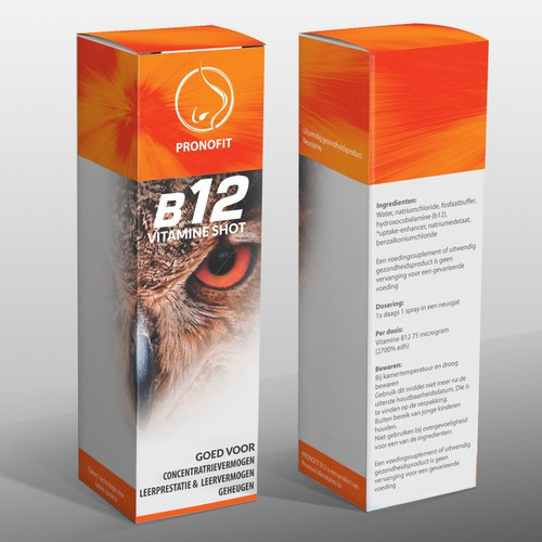 Vitamin (B12) nasal spray box