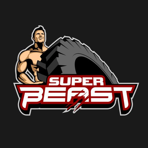Create a logo for Super Beast, a fitness character