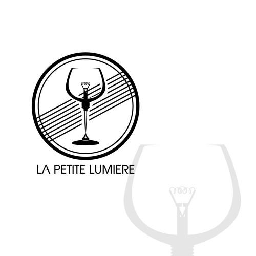 """Logo pour """"La petite Lumière"""", entreprise de vente de vins aux pro et particuliers .."""