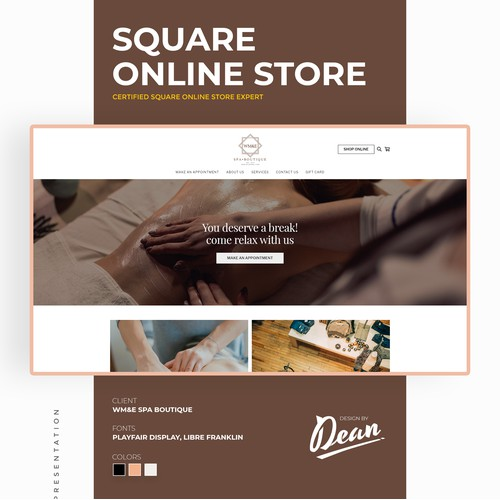 Square Online Store: WM&E Spa Boutique