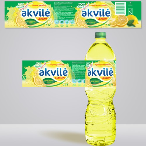 LABEL DESIGN for LEMON WATER