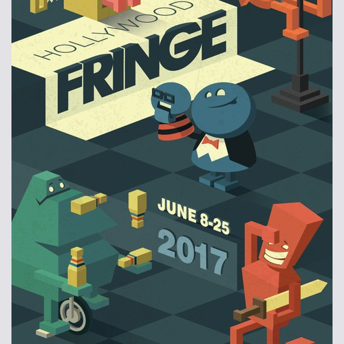 Hollywood Fringe cover illustration