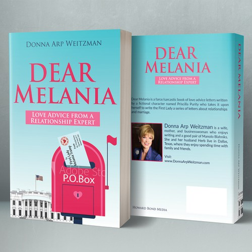 "Design a fun book cover for letters of ""love advice"" to Melania Trump"