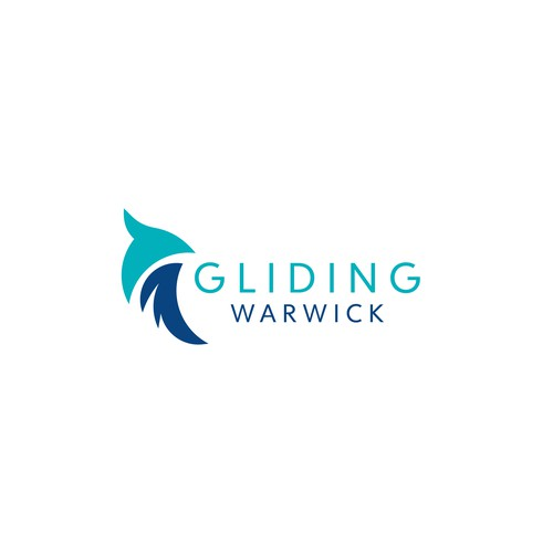 Gliding logo for with eagle as the reference shape