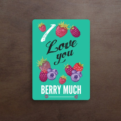 "Card ""i love you Berry much"""
