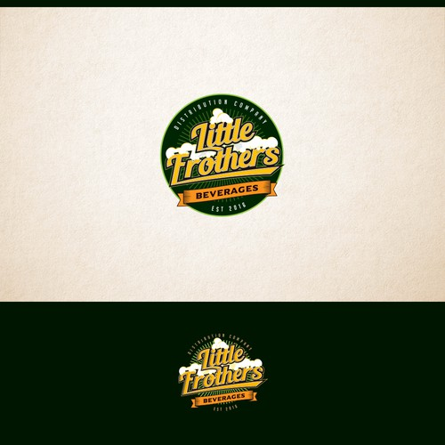 Vintage logo concept for brewing distribution company.