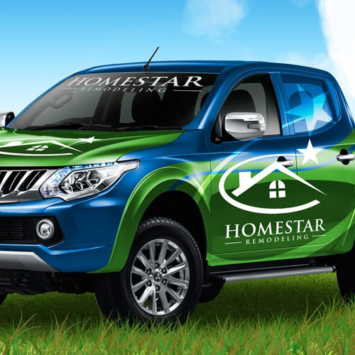 'HomeStar remodeling' car