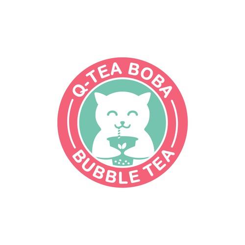 Logo for Q-tea boba