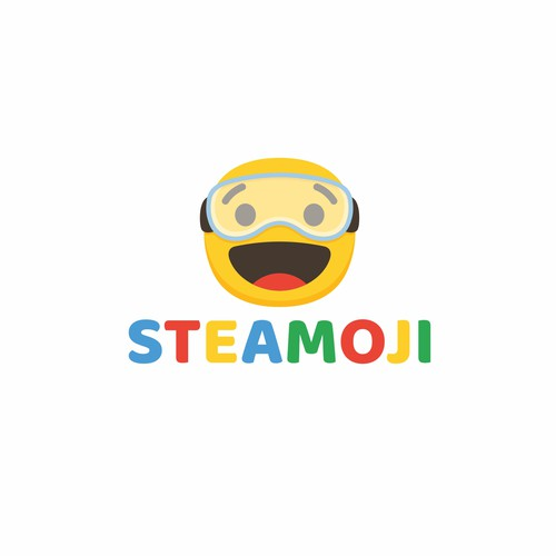 Cute concept for Steamoji Logo