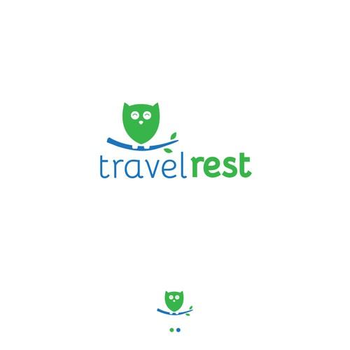 Travelrest Logo Design