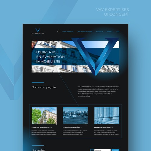 Web UI Design Concept for Consulting Firm