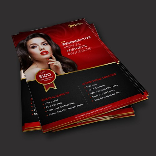 Luxury Flyer Design for cosmetic