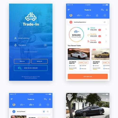 Next gen car trade in Mobile App