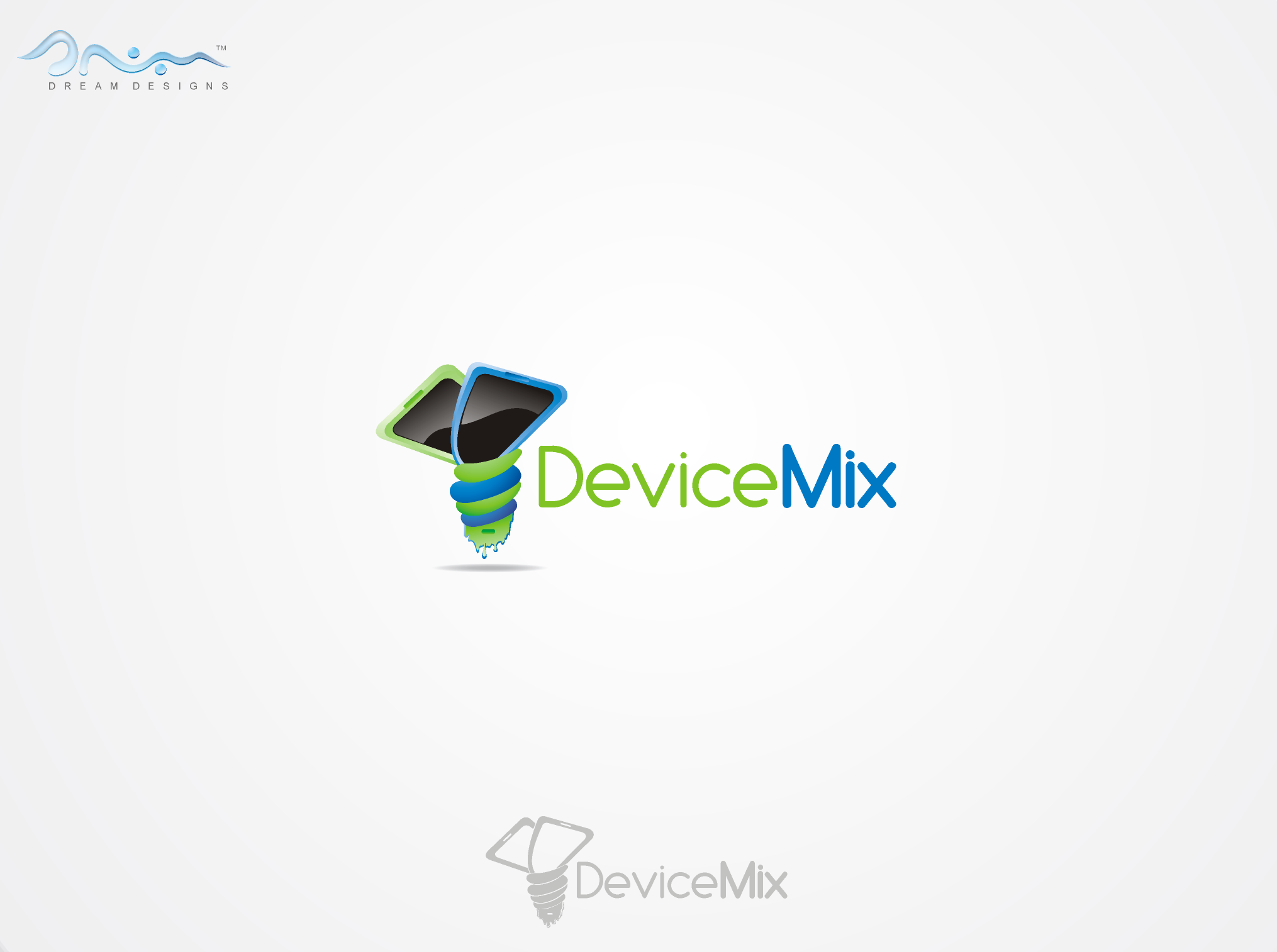 Fun and Edgy logo for DeviceMix