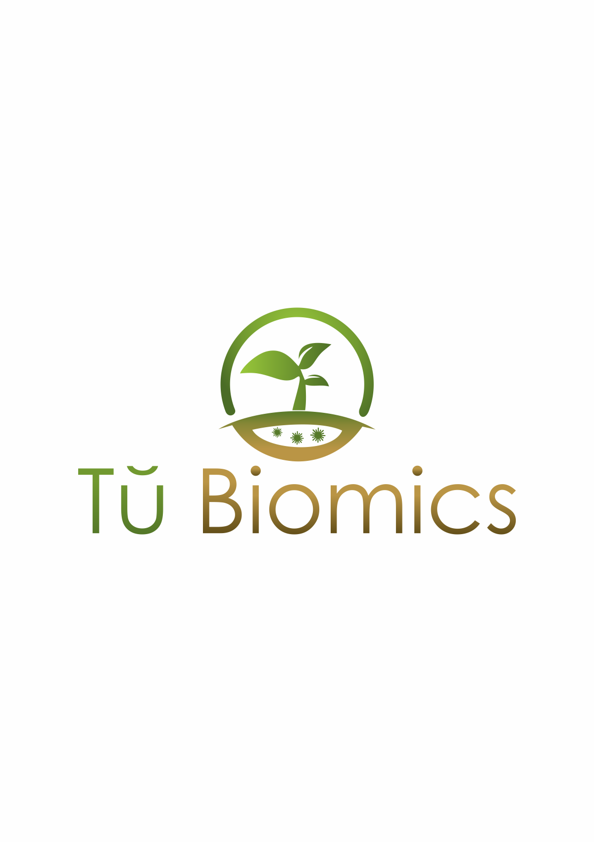 Unique inspired logo for Tŭ Biomics, an novel agtech start-up