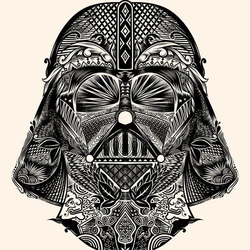 Darth Vader Line art
