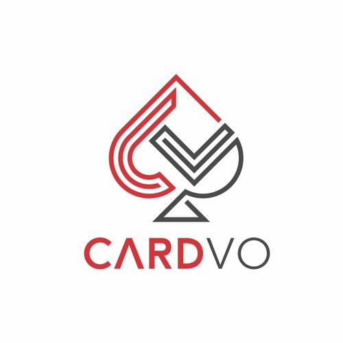 Line Spade Card logo forPlaying card
