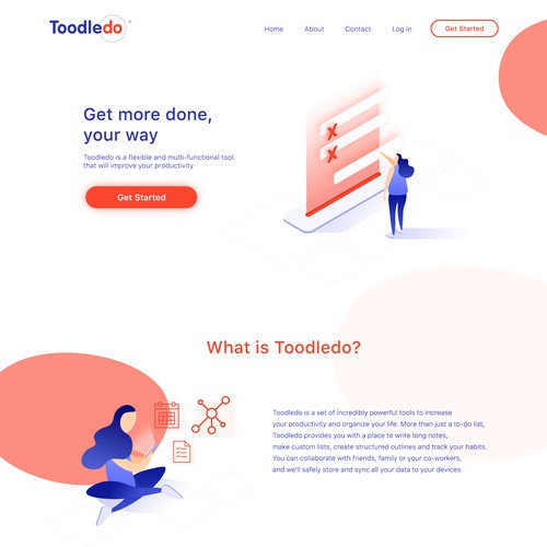 Web page for Toodledo