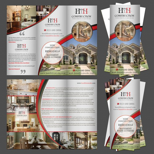 Help H and H Custom Homes Needs a Brochure for Home Show on Friday!